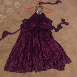 Silky purple fancy dress !!!